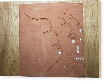 Faces - Tile Wood Print by Gloria Ssali
