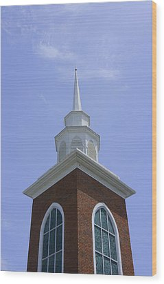 Faith Wood Print by Laurie Perry