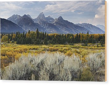 Fall In The Tetons Wood Print by Eric Foltz