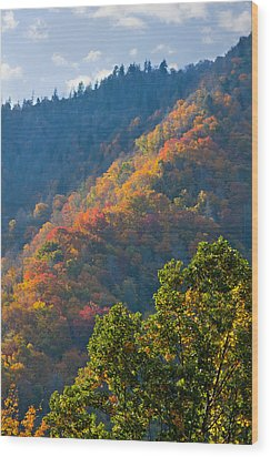 Fall Smoky Mountains Wood Print