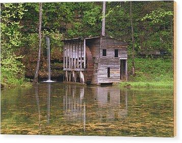 Falling Spring Mill  Wood Print by Marty Koch