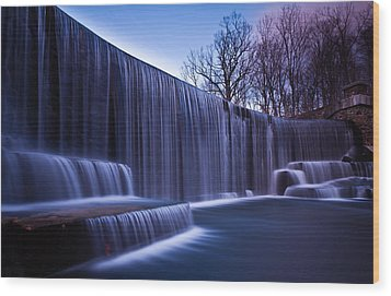 Wood Print featuring the photograph Falling Water by Mihai Andritoiu