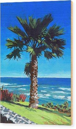 Fan Palm - Diamond Head Wood Print by Douglas Simonson