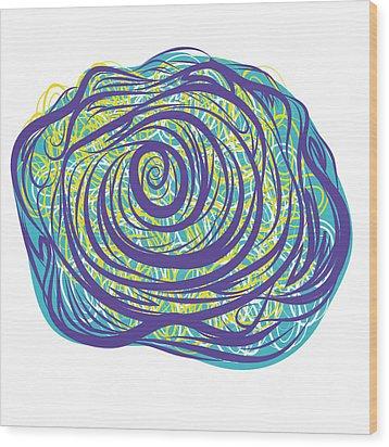 Fancy Rose Wood Print by Kenneth Feliciano