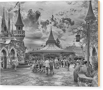 Fantasyland Wood Print