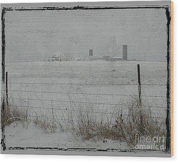 Farmstead Wood Print by Jim Wright