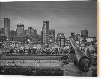 Federal Hill In Baltimore Maryland Wood Print by Susan Candelario