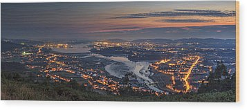 Ferrol's Ria Panorama From Mount Ancos Galicia Spain Wood Print by Pablo Avanzini