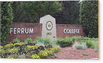 Ferrum College Portrait Wood Print by Olde Time  Mercantile