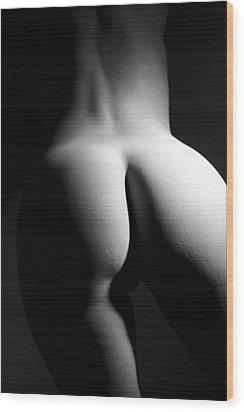 Figure Study Wood Print by Joe Kozlowski