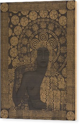 Fin-de-siecle Goddess Wood Print by Diana Perfect