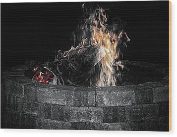 Fire Pit Wood Print by J Riley Johnson