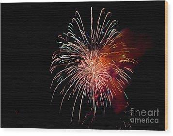 Fireworks Wood Print by Grace Grogan