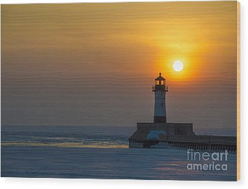 First Sunrise Wood Print by Ronny Purba