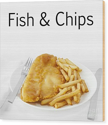 Fish And Chips Wood Print by Colin and Linda McKie