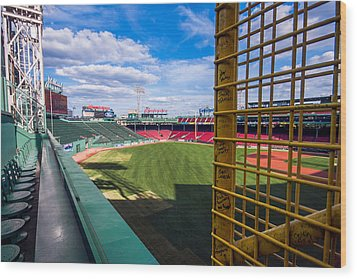 Fisk's Pole And The Green Monster Wood Print