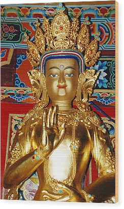 Five Dhyani Buddhas Wood Print by Lanjee Chee