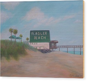 Flagler Beach Florida Wood Print