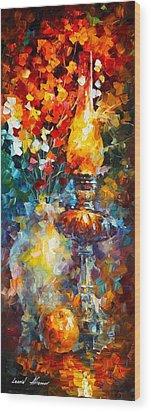 Flame Wood Print by Leonid Afremov
