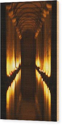 Flaming Passage Wood Print by Cheri Randolph