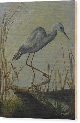 Florida Native Bird On A Fall Morning Wood Print