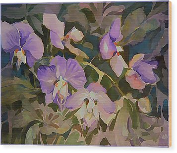 Florida Orchids Wood Print by Mindy Newman