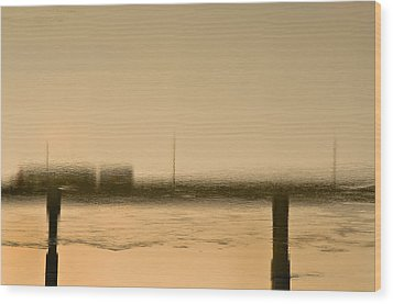 Flow Wood Print by KM Corcoran