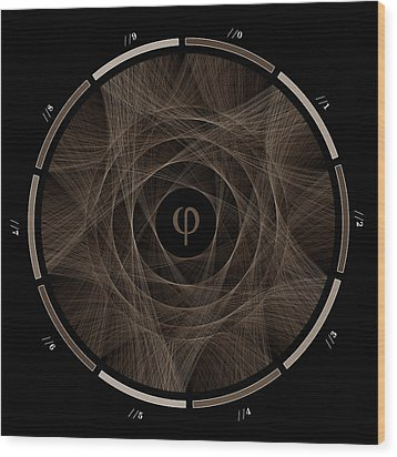 Flow Of Golden Ratio #2 Wood Print by Cristian Vasile