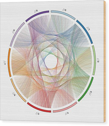 Flow Of Life Flow Of Pi Wood Print by Cristian Vasile