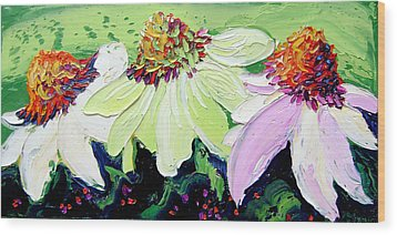 Flowers Wood Print by Isabelle Gervais