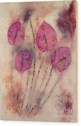 Flowers Wood Print by Tami Lowry