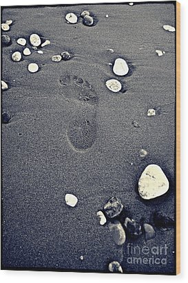 Wood Print featuring the photograph Footprint by Nina Ficur Feenan