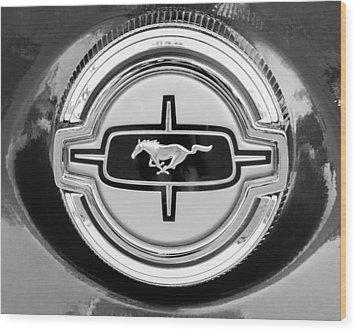 Ford Mustang Gas Cap Wood Print by Jill Reger