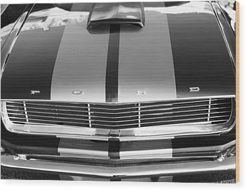 Ford Mustang Grille Wood Print by Jill Reger