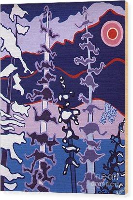 Forest's Glow Wood Print by Joyce Gebauer