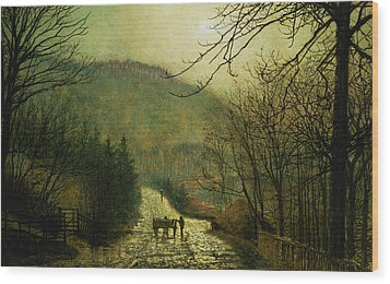 Forge Valley Wood Print by John Atkinson Grimshaw