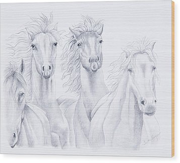Four For Freedom Wood Print by Joette Snyder