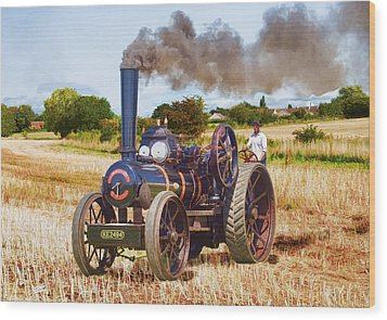Fowler Ploughing Engine Wood Print by Paul Gulliver