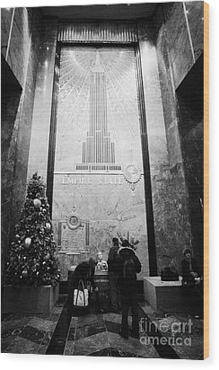 Foyer Of The Empire State Building New York City Usa Wood Print by Joe Fox
