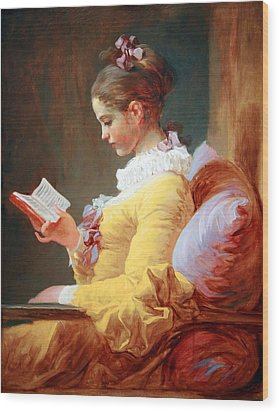 Wood Print featuring the photograph Fragonard's Young Girl Reading by Cora Wandel