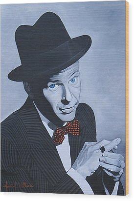 Frank Sinatra Wood Print by Jared Wilkins