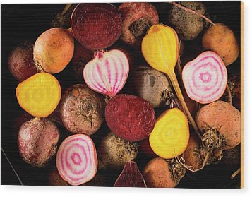 Fresh Beetroot And Red Onions Wood Print by Aberration Films Ltd
