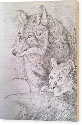 Friends In Watch Wood Print