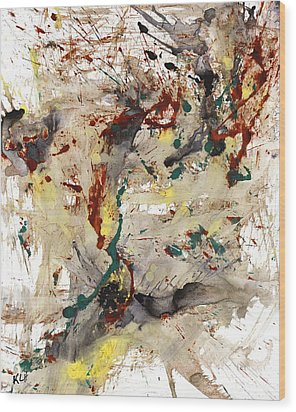 Wood Print featuring the painting From The Chaotic Mess Series - 1260.112212 by Kris Haas