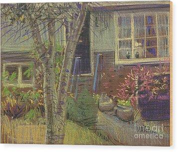 Front Door Wood Print by Donald Maier