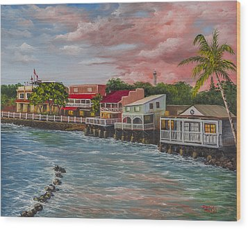 Front Street Lahaina Wood Print