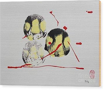Fugu Ichi Wood Print by Roberto Prusso