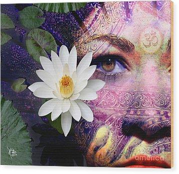 Full Moon Lakshmi Wood Print