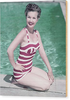Gale Storm Wood Print by Silver Screen