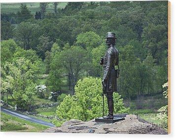 General Warren At Little Round Top Wood Print by John Greim